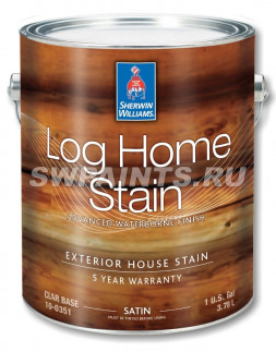 Пропитка LOG HOME Exterior Waterborne Satin Semi-Transparent Stain